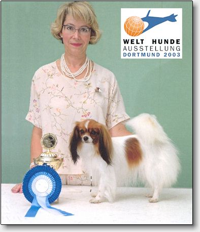 Trixie was World Winner and Best of Breed in Dortmund